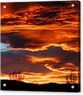 Halloween Sunset Acrylic Print by Tim Nielsen