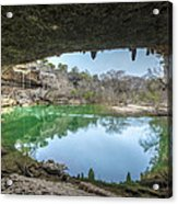 Hamilton Pool Acrylic Print by David Morefield