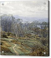 Hampstead Heath Looking Towards Harrow On The Hill Acrylic Print by Edith Martineau