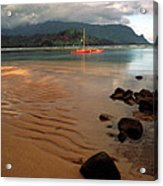 Hanalei Bay At Dawn Acrylic Print by Kathy Yates