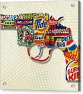 Handgun Logos Acrylic Print by Gary Grayson