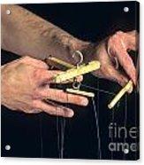 Hands Of A Puppeteer Acrylic Print by Bernard Jaubert