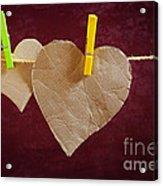 Hanged Heart Acrylic Print by Carlos Caetano