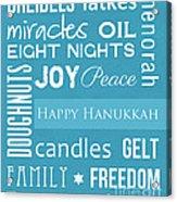 Hanukkah Fun Acrylic Print by Linda Woods