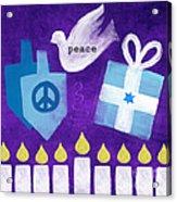 Hanukkah Peace Acrylic Print by Linda Woods