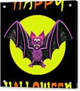 Happy Halloween Bat Acrylic Print by Amy Vangsgard