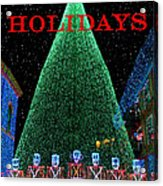 Happy Holidays Acrylic Print by David Lee Thompson