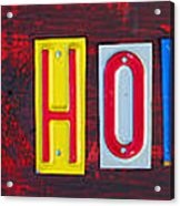 Happy Holidays License Plate Art Letter Sign Acrylic Print by Design Turnpike