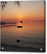 Harbor Sunrise Acrylic Print by Regina  Williams