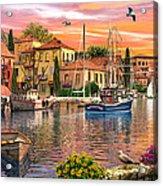 Harbour Sunset Acrylic Print by Dominic Davison