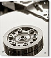 Hard Drive Acrylic Print by Olivier Le Queinec