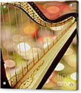 Harp Acrylic Print by Cheryl Young