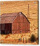 Harvest Barn Acrylic Print by Mary Jo Allen