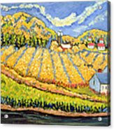 Harvest St Germain Quebec Acrylic Print by Patricia Eyre