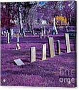Haunted Cemetery Acrylic Print by Alys Caviness-Gober