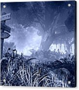 Haunted Forest Acrylic Print by Marina Likholat