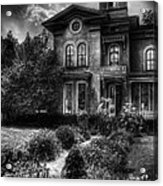 Haunted - Haunted House Acrylic Print by Mike Savad