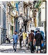 Havana Street Vii Acrylic Print by Jim Nelson