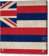 Hawaii State Flag  Acrylic Print by Pixel Chimp
