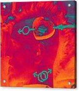 Hawk Cut Valentine 2012 Acrylic Print by Feile Case