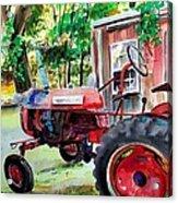Hawk Hill Apple Tractor Acrylic Print by Scott Nelson