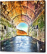 Hawk Hill Tunnel Acrylic Print by Robert Rus