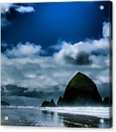 Haystack Rock IIi Acrylic Print by David Patterson