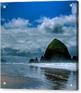 Haystack Rock Iv Acrylic Print by David Patterson
