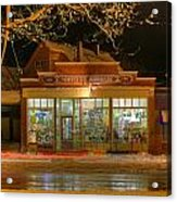 Hdr Moffett's Hardware Winter Sussex Night Acrylic Print by Jamie Roach
