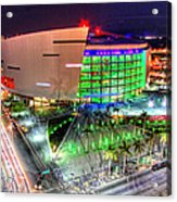 Hdr Of American Airlines Arena Acrylic Print by Joe Myeress