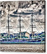 Hdr Tall Ship Boat Pirate Sail Sailing Photography Gallery Art Image Photo Buy Sell Sale Picture  Acrylic Print by Pictures HDR