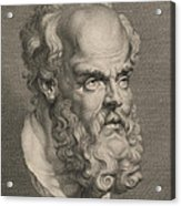 Head Of Socrates Acrylic Print by Anonymous