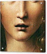 Head Of The Savior Acrylic Print by Leonardo Da Vinci