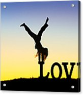 Head Over Heels In Love Acrylic Print by Tim Gainey