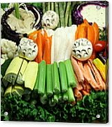Healthy Veggie Snack Platter - 5d20688 Acrylic Print by Wingsdomain Art and Photography