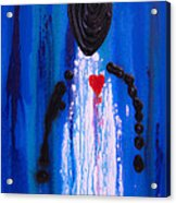 Heart And Soul - Angel Art Blue Painting Acrylic Print by Sharon Cummings