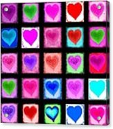 Heart Collage Acrylic Print by Cindy Edwards