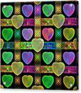 Hearts Acrylic Print by Sandy Keeton