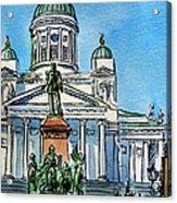 Helsinki Finland Acrylic Print by Irina Sztukowski