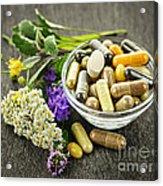 Herbal Medicine And Herbs Acrylic Print by Elena Elisseeva