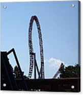 Hershey Park - Storm Runner Roller Coaster - 12124 Acrylic Print by DC Photographer