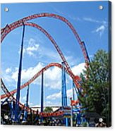 Hershey Park - Storm Runner Roller Coaster - 12125 Acrylic Print by DC Photographer