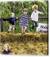 Hey Jump Acrylic Print by John Haldane
