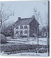 Hezekiah Alexander House Etching Acrylic Print by Charles Roy Smith
