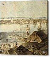 Hill, John William 1812-1879. View Acrylic Print by Everett