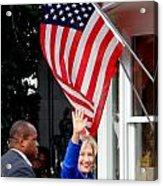 Hillary Clinton Acrylic Print by Ed Weidman
