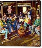 Hillbilly Happy Hour Acrylic Print by Anne Goetze
