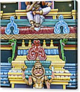 Hindu Temple Deity Statues Acrylic Print by Tim Gainey