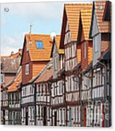 Historic Houses In Germany Acrylic Print by Heiko Koehrer-Wagner