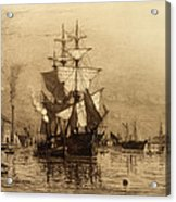 Historic Seaport Schooner Acrylic Print by John Stephens